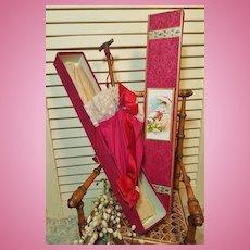 ~~~ Beautiful French Bebe Silk Parasol in Store Box ~~~