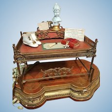 ~~~ French Poupee Bronze Secretary Table in Manner of Maison Giroux ~~~