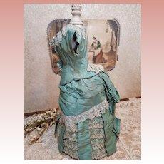 ~~~ Pretty French 1870 antique Poupee Costume ~~~
