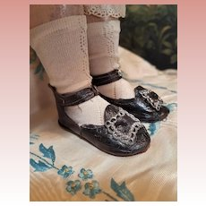 ~~~ Early Antique Bebe Shoes by Claude Prieur / France 1870 ~~~