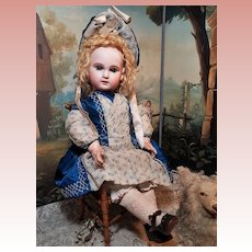 ~~~ Rare French Bisque Engraved DEPOSE BeBe by Emile Jumeau Size 11 ~~~