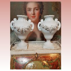 ~~~ Rare Few French Porcelain Vases for Poupee Salon ~~~