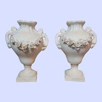~~~ Rare Few French Porcelain Vases for Poupee Salon ~~~