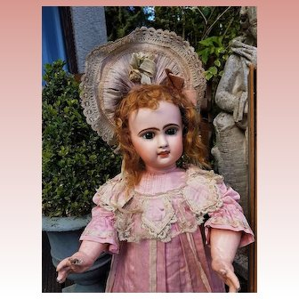 ~~~ Rare French R.R. mark Bisque Bebe in Original Costume ~~~