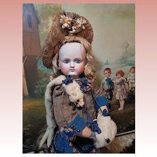 ~~~ Splendid French Bisque Bebe by Petit et Dumoutier in Beautiful Antique Costume ~~~