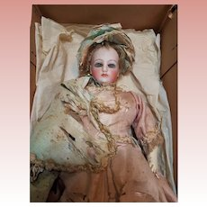 ~~~France Attic Found French Bisque Poupee ~~~