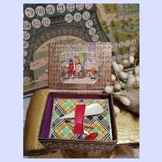 ~~~ Early French Needle-Case Box for Fashion Doll / circa 1880 ~~~