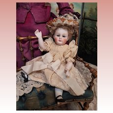 ~~~ Rare Large All Bisque Closed Mouth Child # Mystery Mark ~~~