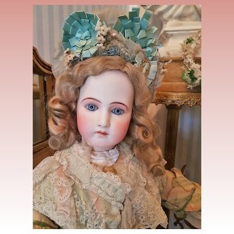 ~~~ Rarest Grand-Sized French Bisque Wooden-Body Poupee by Jumeau ~~~