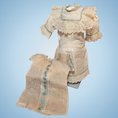~~~ Pretty Factory Antique Chemise and Underdress for French Bebe ~~~