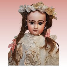 ~~~ Pretty Bisque Bebe by Emile Jumeau in Lovely Childlike Costume ~~~