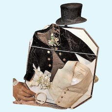 ~~~Lovely Antique French Poupee Clothing for Gentleman Fashion ~~~