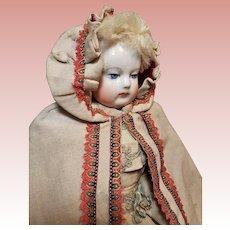 ~~~ Elegant Antique French Poupee Silk Day Cape for Huret , Rohmer , Barrois ~~~