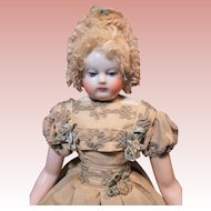 ~~~ Very Fine Adelaide Huret French Porcelain Poupee with Pretty Costume ~~~