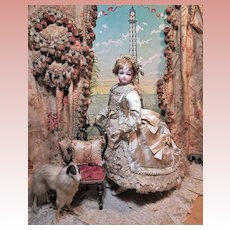 ~~~ Stunning French Jumeau Poupee Fabulous Costumed and with Elaborate Coiffure~~~