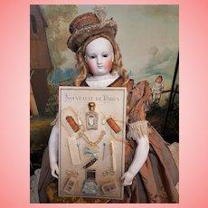 ~~~ Rare Original Authentic Presentation Card with Doll Accessories / 1885-90 ~~~