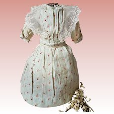 ~~~ Lovely Two Piece Antique Cotton Dress ... 19th. Century ~~~