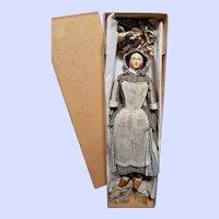 ~~~ Rare Paper-Mache Lady in Box Known as Milliner´s Model ~~~