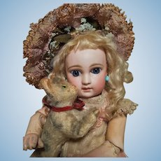 ~~~ Amazing French Small Bisque Portrait Bebe by Jumeau ~~~