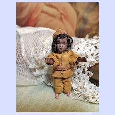 ~~~ Lovely Native French All Bisque Tiny Mignonette in Factory original Condition ~~~