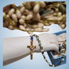 ~~~ Pretty French small 19th. century Rosary for French Poupee or small Bebe ~~~