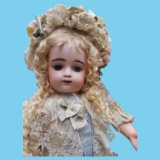 ~~~ Cute French Child Bisque Bebe by Gaultier in Pretty Costume ~~~