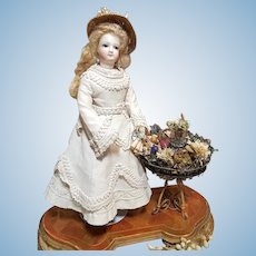 "~~~ Rare French Poupee "" Jardiniers de Paris "" Flower-Metal-Stand / 1870 ~~~"