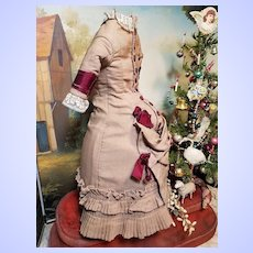 "~~~ Stunning rare Antique Lady´s  Ensemble from circa 1870 th.  for 22"" / 23"" Poupee ~~~"