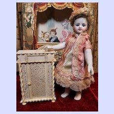 ~~~ Superb 19th. Century Hand Carved Miniatures Cabinet ~~~