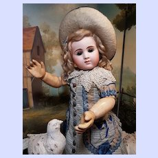 ~~~  Very Rare French Bisque Bebe by Joanny with Superb Costume ~~~