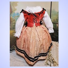 ~~~ Lovely Home made French Antique Three Piece Costume for French or German Doll ~~~