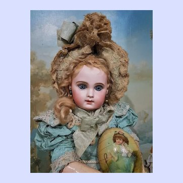 ~~~ French Bisque Portrait Bebe by Jumeau size 8 in Wonderful Clothing ~~~