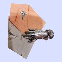 ~~~Rare Antique French Poupee Love Letter Clip ~~~