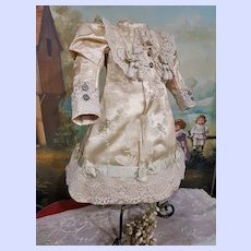 ~~~ Lovely 19th. Century French Home Made Silk Bebe Dress ~~~