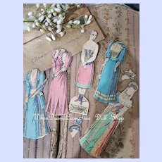 """~~~Rare Dressing Paper Doll """"The Empress """" with Pretty Clothing 1870/80~~~"""
