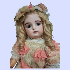 ~~~ Beautiful French Bisque Bebe by Gaultier with Rare Two Row of Teeth ~~~