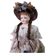 ~~~ Rare all original Early French Porcelain Poupee by Blampoix / 1858 ~~~