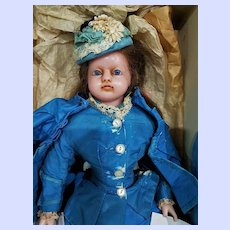 ~~~ Rare Family Heirloom early English Wax Doll with History & Provenance ~~~