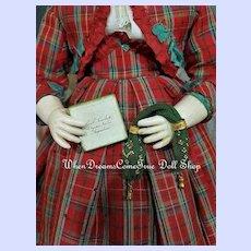 ~~~ Rare French Poupee Woven Miser´s Purse / ca. 1865 ~~~