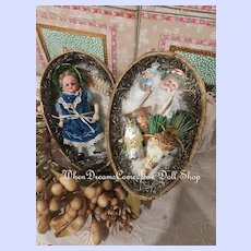 ~~Rare 19th. Century Christmas Presentation Egg with Mignonette ~~