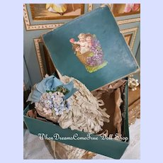~~~ Most Beautiful French Doll Bonnet in his Box ~~~