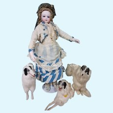 ~~~ Rare French Teen Poupee with all Wooden Herbillon Body ~~~