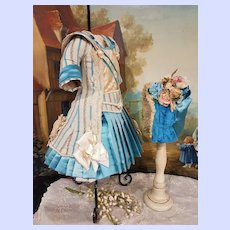 ~~~ Outstanding Two Piece French Bebe Costume with Bonnet ~~~