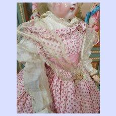~~~ Rare Huret era Netting Shoulder Collar .... France 1858 ~~~