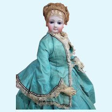 ~~~ Outstanding all Original French Bisque Poupee in her Gorgeous Clothing ~~~