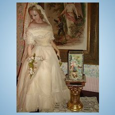 ~~~ Small Victorian Litho - Paper Glass Display or Show Case / France around 1880 - 85 ~~~