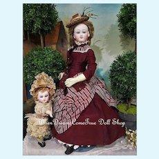 """~~~ Rare French Poupee from """" Au Paradis des Enfant """" Paris Doll Shop ~~~"""