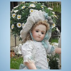 ~~~ Fantastic White Antique French Pique Dress with Pretty Hat ~~~