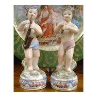 Early 19th Century Pair of Ginori Figures - Putti