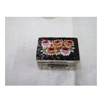 Vintage Millefiori Micro Mosaic Snuff Pill Box